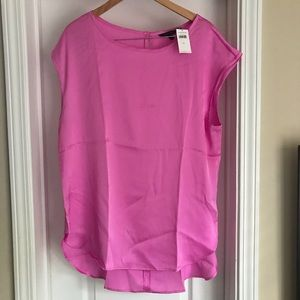 NWT Banana Republic pink high-low blouse XL